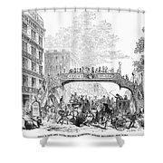 New York: Broadway, 1852 Shower Curtain
