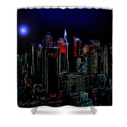 New York By Moonlight Shower Curtain