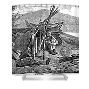 New York: Camping, 1874 Shower Curtain