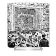 New York Charity Ball, 1884 Shower Curtain