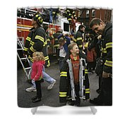 New York City Firefighters Host Shower Curtain