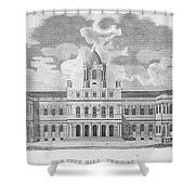 New York: City Hall, C1829 Shower Curtain
