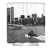New York City Harbor Shower Curtain