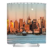 New York City Moonrise IIi Shower Curtain