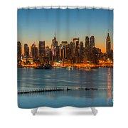 New York City Skyline Morning Twilight IIi Shower Curtain