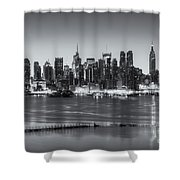 New York City Skyline Morning Twilight Iv Shower Curtain