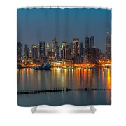 New York City Skyline Morning Twilight Xi Shower Curtain