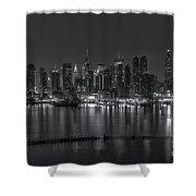 New York City Skyline Morning Twilight Xvi Shower Curtain
