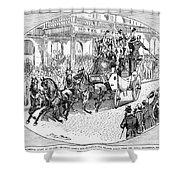 New York: Coaching, 1876 Shower Curtain