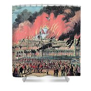 New York Crystal Palace Fire, 1858 Shower Curtain by Photo Researchers