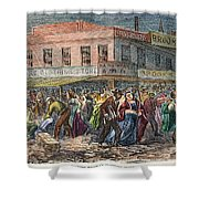 New York: Draft Riots 1863 Shower Curtain
