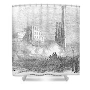 New York: Fire, 1853 Shower Curtain