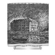 New York: Fire Of 1835 Shower Curtain