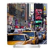 New York Gridlock Shower Curtain