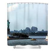 New York Harbor Shower Curtain