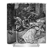 New York: Heat Wave, 1883 Shower Curtain