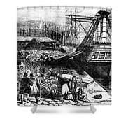 New York: Immigrants, 1854 Shower Curtain