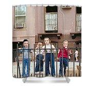 New York Kids 1975 Shower Curtain