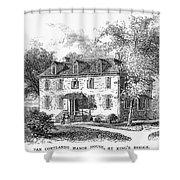 New York Mansion, 1748 Shower Curtain