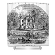 New York: Mansion, 1760 Shower Curtain