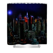 New York Midnight Shower Curtain