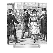 New York Police Raid, 1875 Shower Curtain