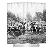 New York: Polo Club, 1877 Shower Curtain