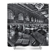 New York Public Library Main Reading Room Vi Shower Curtain by Clarence Holmes