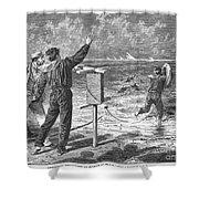 New York: Rockaway Beach Shower Curtain