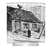 New York: Shanty, 1875 Shower Curtain