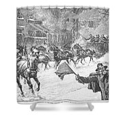 New York: Snowstorm, 1887 Shower Curtain