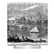 New York State: Hotel, 1862 Shower Curtain