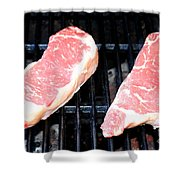 New York Steak Shower Curtain