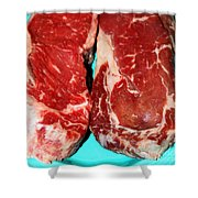 New York Steak Raw Shower Curtain
