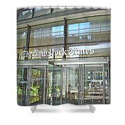New York Times Reflection Shower Curtain