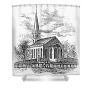 New York: Trinity Church Shower Curtain