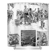 New York: Wash Day, 1889 Shower Curtain