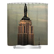New York Watercolor 1 Shower Curtain