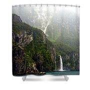 New Zealand's Milford Sound Shower Curtain