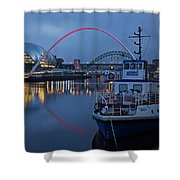 Newcastle Quayside At Night Shower Curtain
