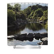 Newcastle, Shimna River, Co Down Shower Curtain