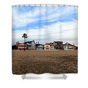 Newport Beach Oceanfront Houses Shower Curtain