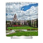 Newport Beach Temple  Shower Curtain