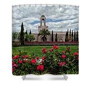 Newport Beach Temple Roses Shower Curtain