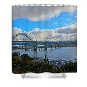 Yaquina Bay Bridge Shower Curtain