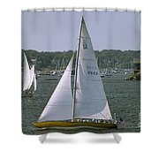 Newport Sailing Shower Curtain