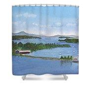 Newport Vermont Aerial Shower Curtain