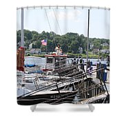 Newport Vermont Marina Shower Curtain