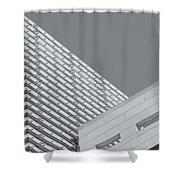 Newseum Contrasting Facades II Shower Curtain