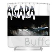 Niagara At Night Shower Curtain